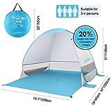 G4Free Grand Pop-up Tente De Plage Automatique Soleil Abri en Plein Air Cabana Soleil...