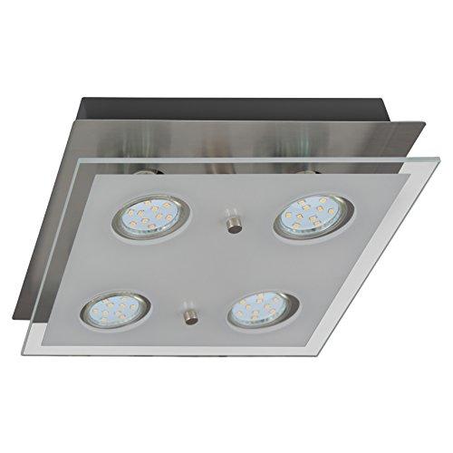 B.K.Licht LED Deckenlampe Inkl. 4 x 3W GU10 Leuchtmitteln Moderne Deckenleuchte 4 Flammig