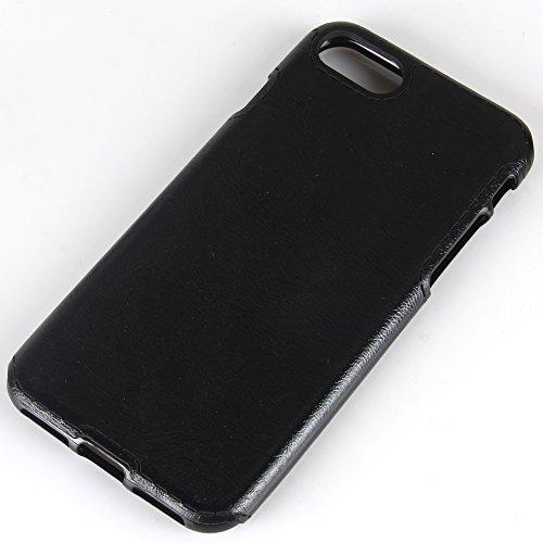 IPhone 8 Hülle, Valenth Crazy Horse Pattern Slim Fit Leichtes Gewicht Ultra Thin Soft TPU Hülle für iPhone 8 Schwarz