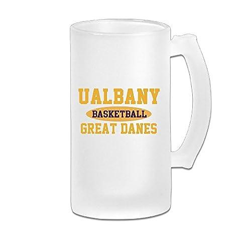 MeiSXue Albany Great Danes Basketball Football Logo Beer Mug