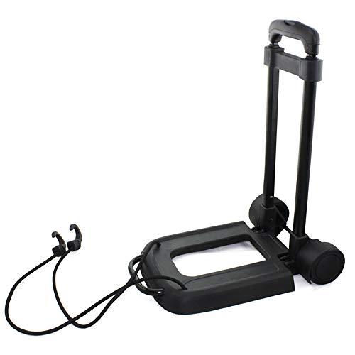 RIOXP Sackkarre Mini - Klappbar - Bis 50 Kg Tragkraft - Höhenverstellbar Stapelkarre Für Getränkekisten Transportkarre Mit Höhenverstellbarem Griff Transporthilfe Mit Metallrahmen