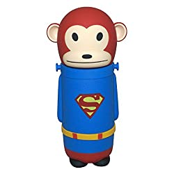 Manbhari Thermos Cup Cute Lovely Monkey Style Stainless Steel Portable Travel Vacuum Flask Cup / Bottle 280ml for Kids (Super Man)