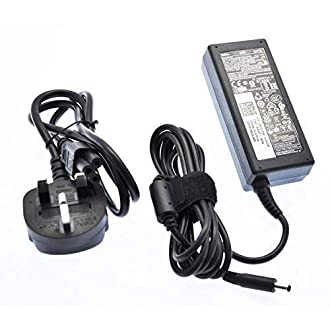 Dell 19.5V 3.34A 65W Slim Black Power Adapter with 4.5mm x 3.0mm Pin Size Charger Compatible with Part Numbers 450-AECO 43NY4 MGJN9 G6J41 UK