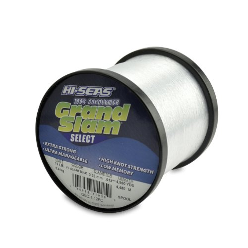 Hi-Saw Grand Slam Select Spule, 100% Copolymer-Schnur, fluoreszierend, Blau, Fluorescent Clear Blue, 4,900-Yard, 12-Pound Test -