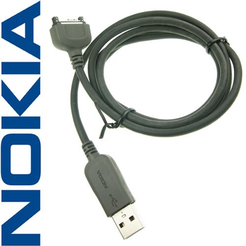 Original Nokia CA-53 USB Kabel Datenkabel für Nokia 3230, 3250, 3300, 5500 Sport, 6085, 6086, 6111, 6112, 6125, 6131, 6136, 6151, 6170, 6230, 6230i, 6233, 6234, 6260, 6270, 6280, 6288, 6630, 6650, 6670, 6680, 6681, 7270, 7370, 7373, 7610, 7710, 9300 Smartphone, 9300i Smartphone, 9500 Communicator, E50, E60, E61, E61i, E65, E70, N70, N71, N73, N77,N80, N90, N92,N93, N93i.