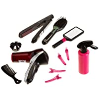 Theo Klein 5873 Braun Satin 7 Mega Hairstyling Set with Hairbrush, Hairdryer and Hair Straightener, Toy, Multi-Colored