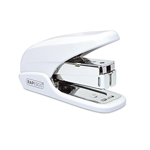 Rapesco 1310 X5 Mini Less Effort Heftgerät (Typ 26 & Typ 24/6mm Heftklammern) Reduzierter Kraftaufwand Tacker Weiß