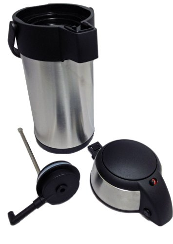 414MdvwENEL - New 3.0 litre stainless steel pump action airpot/flask - Ideal for keeping fluids hot for many hours. by Nextday Catering Supplies