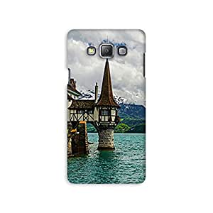 Mikzy Beautifull Island Printed Designer Back Cover Case for Samsung A7 (Multicolour)
