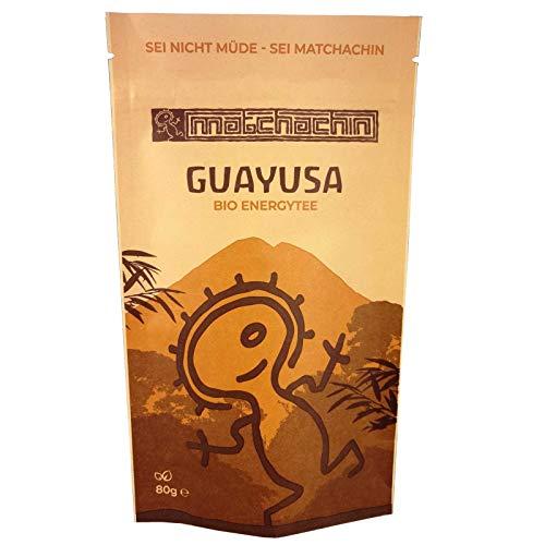 Guayusa Energytee BIO von Matchachin - Das Original (80 g) [Ilex guayusa] Leistung, Ausdauer, Konzentration + mögliche Nebenwirkung: luzides träumen - der Nachtwächter Tee der Quichua Indianer -