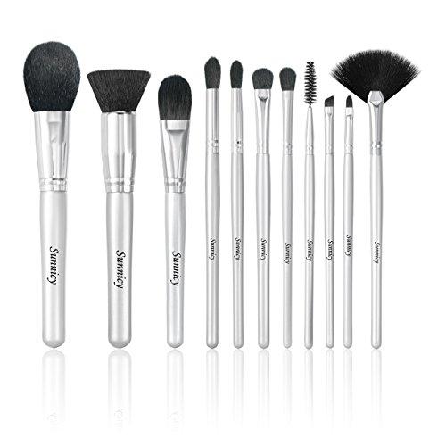 11 pcs Pinceaux de maquillage Pinceaux pour le visage , Pinceaux pour les yeux Professionnelle kit de brosses cosmétiques