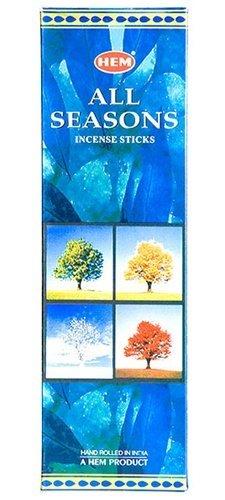 Ourlet Lot de 6 20 bâton toutes les saisons – Boîte de six 20 bâton tubes – Ourlet Encens