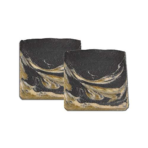 Mijo 2x BLACK-GOAT schwarze Seife für Gesicht mit Ziegenmilch Naturseife mit Bio Olivenöl, ohne Palmöl ca. 100g/St -