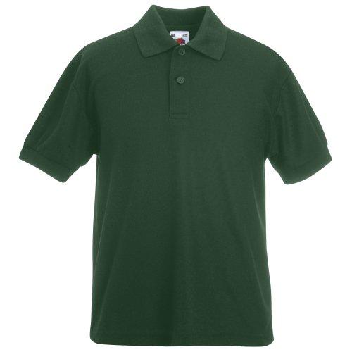 Fruit of the Loom Jungen T-Shirt Ss132b Bottle Green