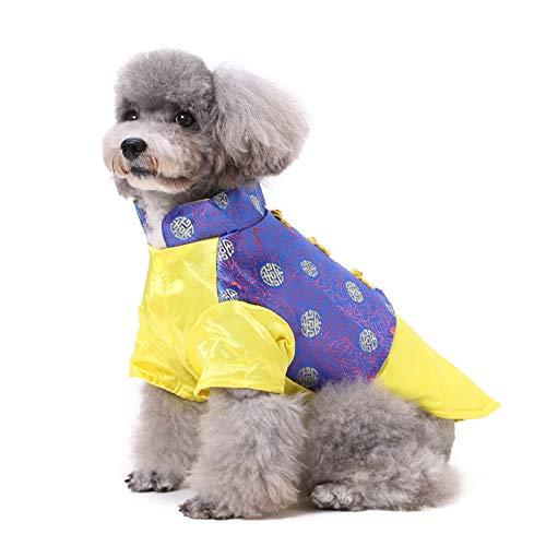 PapiPet Blau & Gold Hunde Tang-Anzug für den -