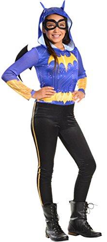 erdbeerloft - Mädchen Kostüm Karneval Batman Batgirl , Lila, Größe 128-140, 8-10 Jahre