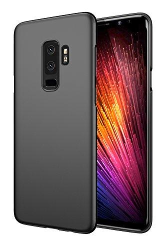 EIISSION Samsung Galaxy S9 Plus Funda,Ultra Ligero Suave Mate Sedoso Pintura PC Funda Protectora de teléfono (Negro)