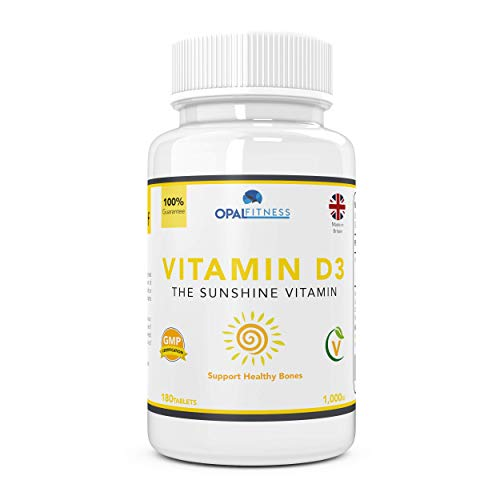 Vitamin D3 Tablets 1000iu - Supplement For Healthy Joints and Bones - 180  Pills