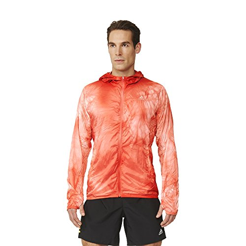 Adidas kanoi Run Packable veste de Course Dye M Rouge - Rouge
