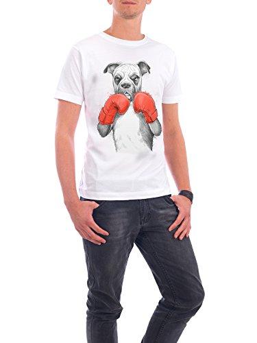 """Design T-Shirt Männer Continental Cotton """"Boxer"""" - stylisches Shirt Tiere Natur Sport von Nikita Korenkov Weiß"""