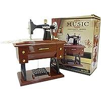 ASGHSA Simulación única máquina de Coser Caja de música decoración hogar salón Dormitorio Regalos para los