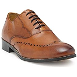 HATS OFF ACCESSORIES Premium Leather Tan Oxford Shoes