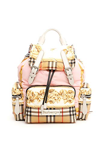 BURBERRY ,  Damen Kinderrucksack Pink Stone - Rosa E Bianco Medium