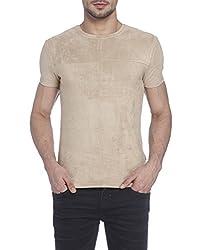 Jack & Jones Mens T-Shirt (5713444304232_12120710Beige_Small)