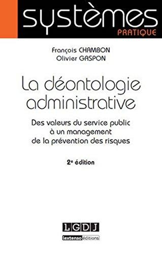 La déontologie administrative