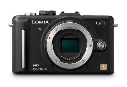 Panasonic Lumix DMC-GF1 Systemkamera (12 Megapixel, 7,6 cm Display, HD-Video, LiveView) Gehäuse mattschwarz Panasonic Lumix Digital Slr
