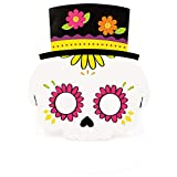 Máscara de Papel para niños de Halloween, Accesorios de Halloween, Kit de Manualidades para Disfraz, Accesorio de Fiesta (Calavera)