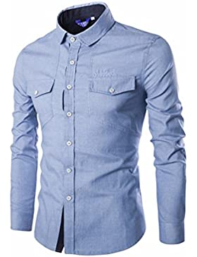 Los hombres occidentales golpeó cowboy casual camisa de manga larga de color, formando el T-Shirt