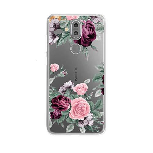 """KJYF Cover Case TPU Silikon Transparent Anti-Scratch Handyhülle Bumper Anti Slip Weich Schutzhülle Hülle Schale für Nokia8.1(6.18"""").[YQ12]"""