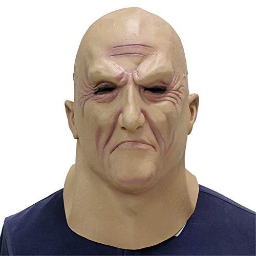 Lustig Kostüm Alter Mann - RENS Halloween Maske Schrecklicher Alter Mann, Lustige Horror Latex Vollmaske, Neuheit Maskerade Kostüm Party Lustige Requisiten