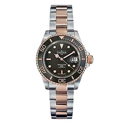 Davosa Automatic Ternos Ceramic 2 Tone Black Rose Gold Divers Wrist Watch