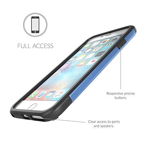 Cover iPhone 6 Plus / 6s Plus, Snugg Apple iPhone 6 Plus / 6s Plus Custodia Case [Scudo Sottile] Protettiva Per Pelle – Grigio, Infinity Series Blue