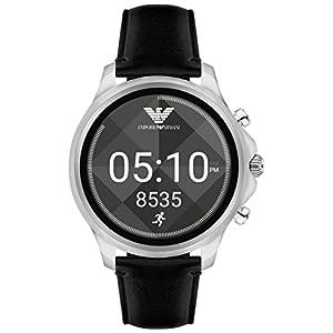 Emporio Armani Herren Digital Uhr mit Leder Armband ART5003
