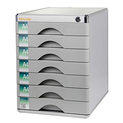 Ordnerregale Datenschrank Morgenlicht Desktop-Aktenschrank 7-schichtiger Typ Mit Kleinem Schubfach Daten Mit Schlosskabinett 7 Schichten A4 Büro-Kunststoff-Aktenschrank