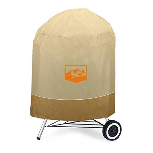 Yukon Glory 7453 Premium Wasserdichte Kugelgrill Abdeckung für 57 cm Holzkohlegrills Tan Brown - Premium-holzkohle-grill-abdeckung