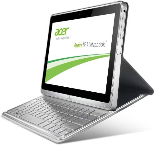 Acer Aspire P3-171-3322Y2G06as 29,5 cm (11,6 Zoll) Convertible Tablet-PC (Intel Core i3-3229Y, 1,4GHz, 2GB RAM, 60GB SSD, USB 3.0, Intel HD, Touchscreen mit IPS Technologie, Win 8) silber 1.4 Ghz Intel Core