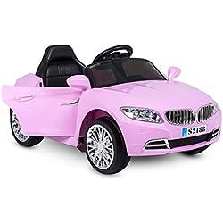 LT861 Coche eléctrico para niños Crazy puertas automáticas y 3 velocidades - Rosa