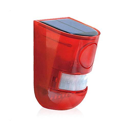 Preisvergleich Produktbild Solaralarm Menschlicher Körper Induktion Home Safety Sirene Farm Alarm Sirene mit Ton und Rotlicht