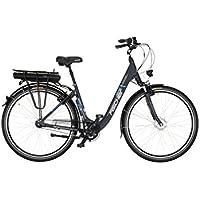"""FISCHER E-Bike City ECU 1401, Anthrazit, 28"""", RH 44 cm, Vorderradmotor 36 V/552 Wh, Shimano 7-Gang Nexus-Nabenschaltung mit Rücktrittsbremse"""