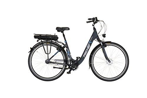Fischer E-Bike City Ecu 1401, 28 Zoll, Vorderradmotor 250 Wh, Shimano 7-Gang Nexus-Nabenschaltung mit Rücktrittsbremse