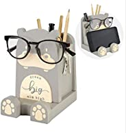 I'm Solid Wood Multipurpose Eyeglass Phone Pen & Pencil Holder Stand Stationery Desk Box Organizer Acc