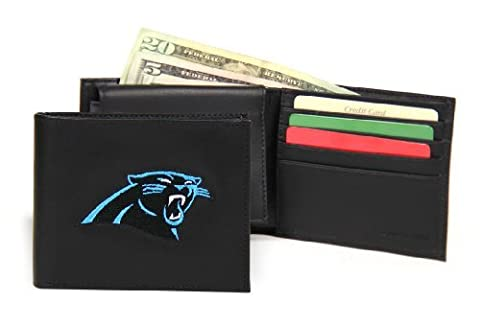 Carolina Panthers Embroidered Leather Tri-Fold Wallet by SportsMagicK