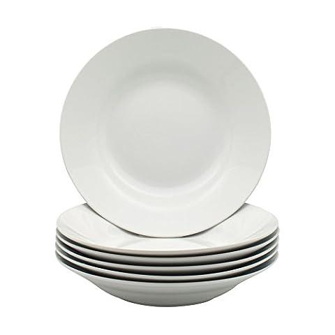 White Rimmed Soup / Pasta / Cereal / Bowls -
