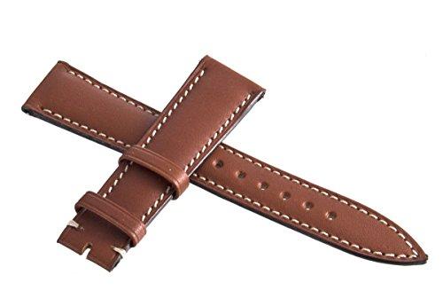 Franck Muller Geneve weiß Stitches Braun Leder Uhrenarmband 19mm
