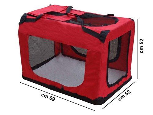Cuccia Trasportino pieghevole cm 60x45x41 borsa per trasporto / viaggio cani, gatti, piccoli animali