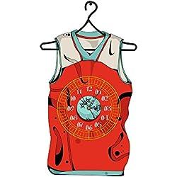 YYH Etiquetas engomadas del sitio de baloncesto ropa 3D Reloj Digital Living reloj de pared de PVC estereoscópica